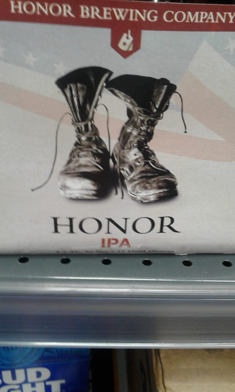 IPA Beer- Honor- 12 pack cans