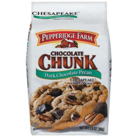 Pepperidge Farm Cookies Chesapeake Dark Chocolate Chunk Pecan 7 2 Oz Bag