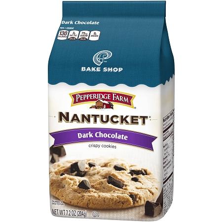 Pepperidge Farm Cookies Nantucket Dark Chocolate Chunk 7 2 Oz Bag