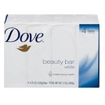 Dove Bath Soap Unscented White 6 Pack