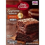 Betty Crocker Brownie Supreme Mix with Syrup Pouch  22.5 OZ BOX