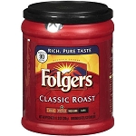 Folgers Coffee Classic Roast Medium For All Makers (Ground)  32 OZ CAN  32 OZ CAN