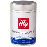 Illy - Ground Coffee- Drip Medium The Best coffee  250 grams CAN  250 grams CAN