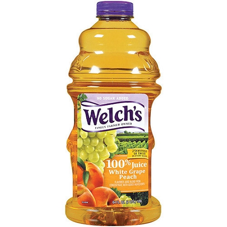 Welch's 100% Juice White Grape Peach  64 OZ BTL