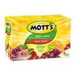 Mott's Drink Fruit Punch - 9 ct  6.75 OZ BOX