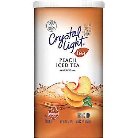 crystal light iced tea mix peach 8 qt can. Black Bedroom Furniture Sets. Home Design Ideas