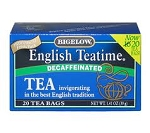 BIGELOW TEA BAGS - Decaf English Time  28 bags  28 bags