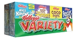 Kellogg's Cereal Variety Pack  10 CT PKG