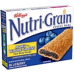 Kellogg's Nutri-Grain Minis Yogurt Icing Blueberry - 6 ct  9.3 OZ BOX