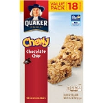 Quaker Chewy Granola Bars Chocolate Chip - 10 ct  10 OZ BOX