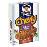 Quaker Chewy Granola Bars Oatmeal Raisin - 10 ct  18.5 OZ BOX