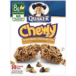 Quaker Chewy Dipps Granola Bars Peanut Butter - 8 ct  8.4 OZ BOX