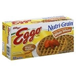 Eggo Waffles Nutri-Grain Whole Wheat - 10 ct  12.3 OZ BOX