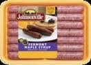 Jonesville Golden Brown Sausage Vermont Maple Syrup Links - 10 ct  12 OZ BOX