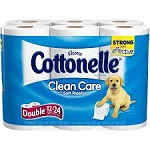 Cottonelle Double Rolls Bath Tissue- 12 Roll  12 Rolls