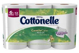 Cottonelle Double Rolls Bath Tissue with Aloe  6 roll pkg