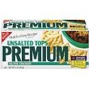 Nabisco Premium Saltines Unsalted Tops  16 OZ BOX