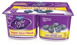 Dannon Light 'n Fit 4 cups Yogurt 0% Fat Blueberry  6 oz x 4 cups  6 oz x 4 cups