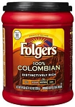 Folgers Coffee 100% Colombian Medium Dark For All Makers (Ground)  10.3 OZ CAN  10.3 OZ CAN