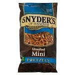 Snyder's Pretzels Unsalted Mini's  9.25 oz bag  9.25 oz bag