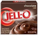 Jell-O Instant Pudding Chocolate  3.9 OZ BOX