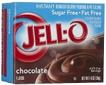 Jell-O Instant Sugar Free Fat Free Pudding Chocolate  2.1 OZ BOX