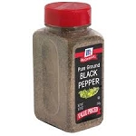 McCormick Ground Black Pepper  8.75 OZ JAR