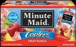 Minute Maid Coolers Fruit Punch - 10 ct  6.75 OZ PKG