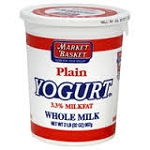Plain whole milk yogurt  20 oz  20 oz