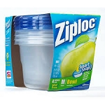Ziploc Containers Tall Round 24 Ounce  4 CT