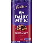 Cadbury Chocolate Bar Fruit & Nuts  5 OZ BAR