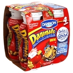 Dannon Danimals Drinkable Yogurt Low Fat Strawberry 3.1 oz ea - 4 ct  12.4 OZ PKG