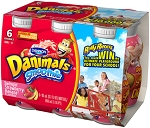 Dannon Danimals Yogurt Creamy Raspberry & Straw-Banana 2.5 oz ea - 6 ct  12 OZ PKG