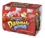 Dannon Danimals Yogurt Super Creamy Vanilla & Strawberry 2.5 oz ea - 6 ct  12 OZ PKG
