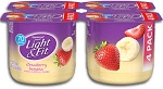 Dannon Light 'n Fit 4 cups Yogurt 0% Fat Strawberry Banana  6 oz x 4 cups