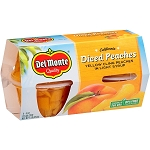 Del Monte Peaches Diced Yellow Cling in Light Syrup - 4 pk  4 oz cup