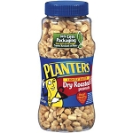 Planters Peanuts Dry Roasted  16 OZ JAR