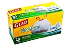 Glad Tall Kitchen Bags With Odor Shield & Drawstring (13 Gallon)  20 CT PKG