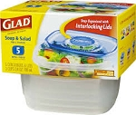 Gladware Soup & Salad Containers  5 CT PKG