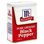 McCormick Ground Black Pepper  4 OZ CAN