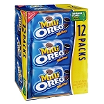 Nabisco Oreo Cookies Mini Bite Size Snack Packs - 12 ct  8 OZ PKG