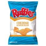 Ruffles Potato Chips Cheddar & Sour Cream  6.5 OZ BAG