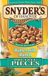 Snyder's Pretzels Pieces Sourdough Hard Buttermilk Ranch  10 OZ BAG