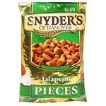 Snyder's Pretzels Pieces Sourdough Hard Jalapeno  10 OZ BAG  10 OZ BAG