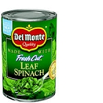 Del Monte Fresh Cut Whole Leaf Spinach  13.5 oz
