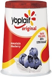 Yoplait Original Yogurt 99% Fat Free Blueberry  6 OZ CUP
