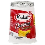 Yoplait Original Yogurt 99% Fat Free Strawberry Banana  6 OZ CUP