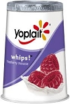 Yoplait Whips Yogurt Raspberry Mousse  4 OZ CUP