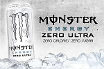Zero Calorie Monster Energy Drink  16 OZ CAN