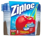 Ziploc Containers Short Square 20 Ounce  5 CT